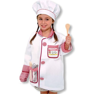 A Melissa Amp Doug Chef Role Play Costume Set Tarland Toy Shop