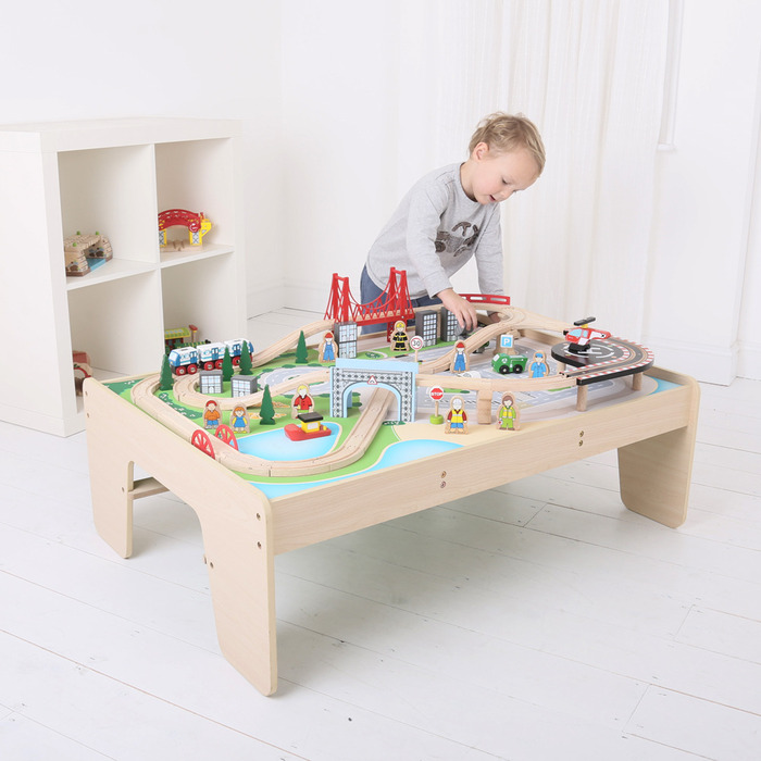 Bigjigs City Train Set And Table Tarland Toy Shop