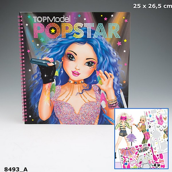 008493 topmodel popstar colouring book tarland toy shop
